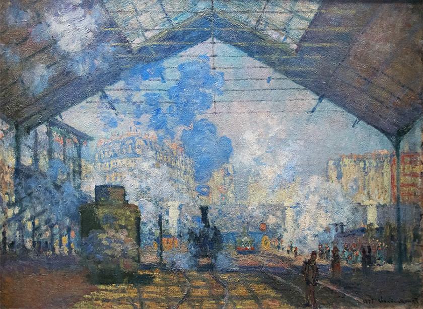 Sống cùng thời đại: Monet vẽ xe lửa
