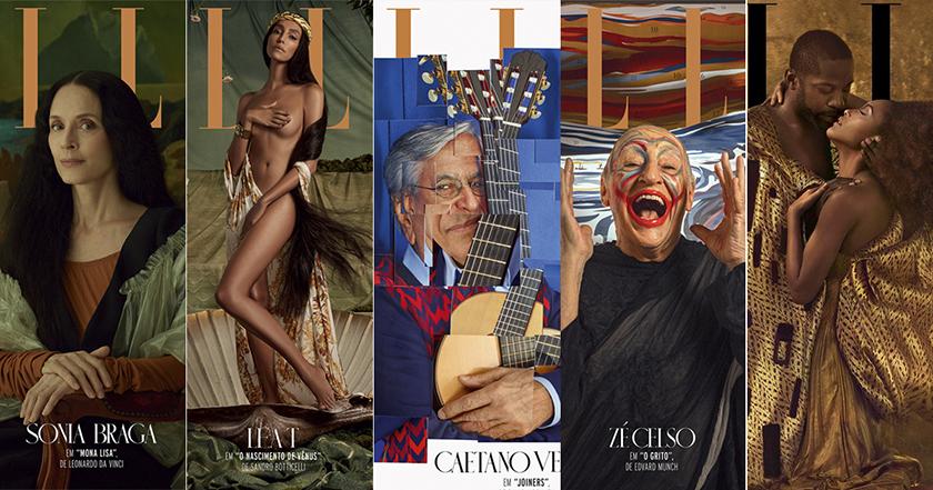 Tạp chí ELLE Brazil tái hiện lại năm tác phẩm kinh điển