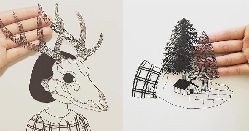 Các tác phẩm cắt giấy đầy sáng tạo của Kanako Abe