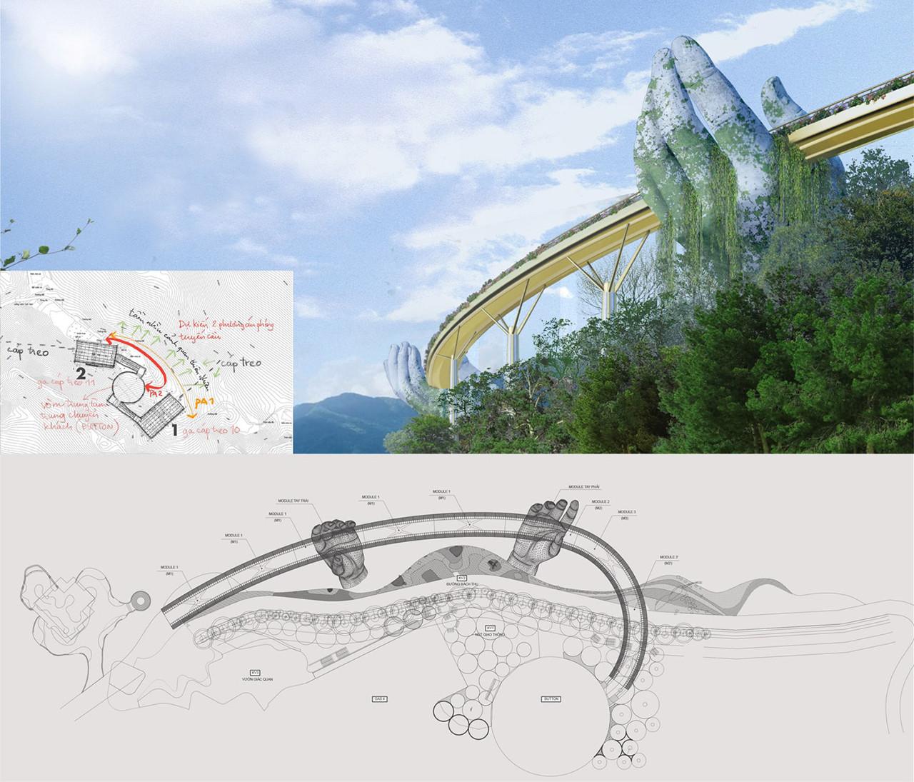 Cầu vàng golden bridge Đà Nẵng – sự kết nối giữa con người với thiên nhiên