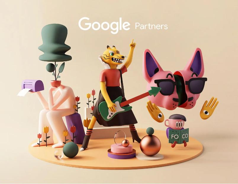 Sticker 3D ngộ nghĩnh dành cho đối tác của Google