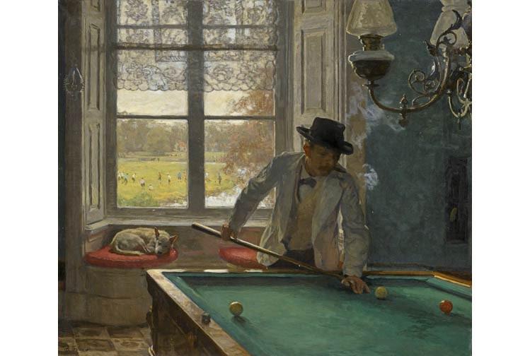 "Về bức ""The Billiards Player"" của Williem Tholen"