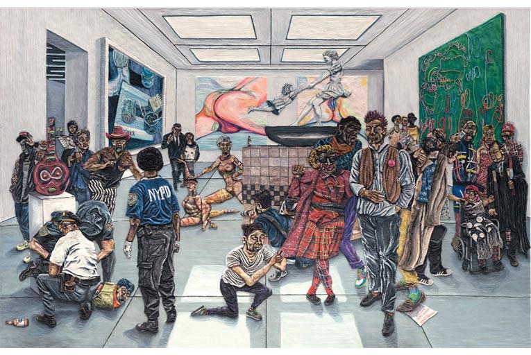 Young Sen lên voi và xuống chó Bức số 4: Buổi triển lãm ở New York